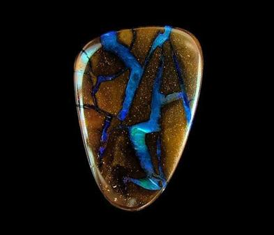 Boulder opal abstract picture stone from Australia