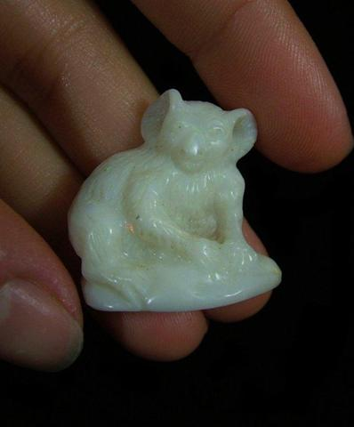 White Opal Koala Carving from Coober Pedy