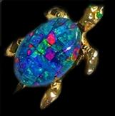 Opal Mosaic Turtle